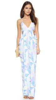 Платье Fractals Turquoise с драпировкой Mara Hoffman