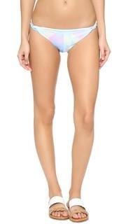 Плавки бикини Fractals Turquoise с плетением «рогожка» Mara Hoffman