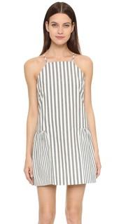 Платье в бретонскую полоску с оборчатым подолом Milly