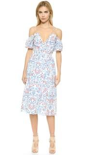 Платье-халат N/Nicholas с вырезами на плечах