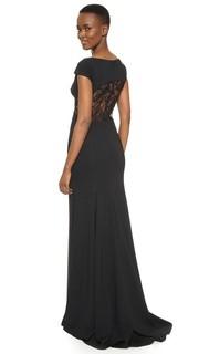 Вечернее платье с открытой спиной Lela Rose