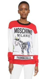 Топ с длинными рукавами Fashion Kills Moschino