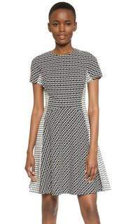 Платье с контрастными вставками Lela Rose