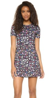 Проклеенное платье с мелким цветочным рисунком Cynthia Rowley