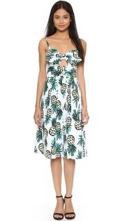 Платье Jordan с завязками и принтом в виде ананаса Milly