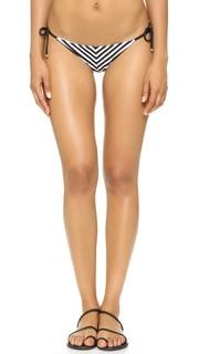 Плавки бикини Natalie Mitered с полосатыми завязками по бокам