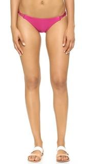 Плавки бикини пурпурного цвета с заплетенной колосом отделкой ViX Swimwear