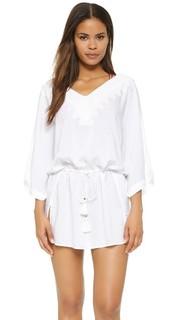 Однотонный белый восточный халат Romance ViX Swimwear