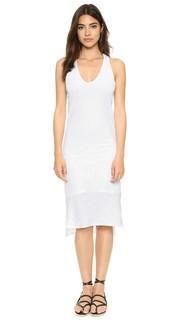 Миди-платье с V-образным вырезом из хлопка супима с неравномерной текстурой Stateside