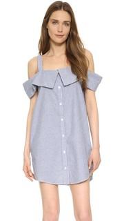 Платье-рубашка с открытыми плечами Clu