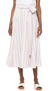 Пляжная юбка из ткани в крепированную полоску Lisa Marie Fernandez