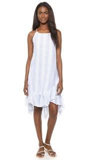 Платье в полоску с оборками Moon River