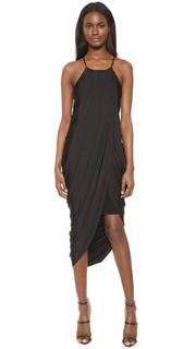 Черное асимметричное платье Bobi