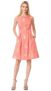 Платье с облегающим лифом и широкой юбкой Lela Rose