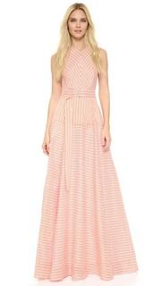 Вечернее платье в полоску Lela Rose