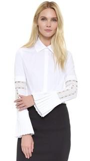 Блуза с расклешенными рукавами и застежкой на пуговицы Yigal Azrouel