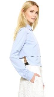 Укороченная рубашка с длинными рукавами Tome