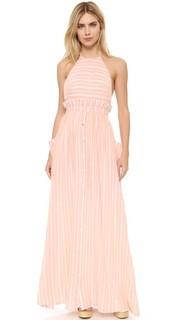 Платье с американской проймой из газовой ткани в полоску Mara Hoffman