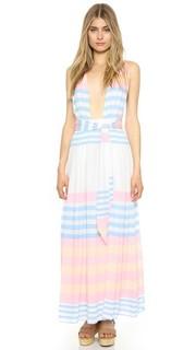 Макси-платье Field из жатой ткани в полоску Mara Hoffman
