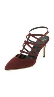 Замшевые сандалии на каблуке Giuseppe Zanotti