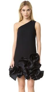Платье с открытым плечом и оборками Victoria Victoria Beckham