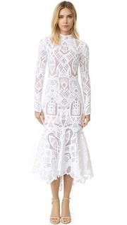 Кружевное вечернее платье Tower с длинными рукавами Jonathan Simkhai