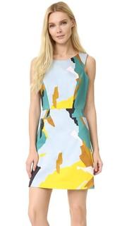 Платье с современным камуфляжным принтом Milly