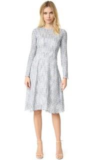 Расклешенное платье с длинными рукавами из твида Tome