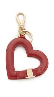 Брелок Vara в форме сердца с бантиком Salvatore Ferragamo