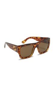 Большие солнцезащитные очки GG Emphasis с плоским верхом Gucci