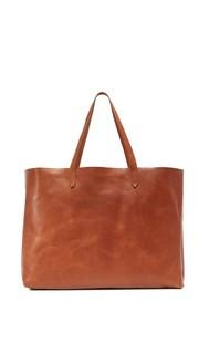 Объемная сумка с короткими ручками East / West Madewell