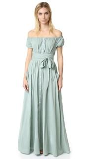 Платье из газа с открытыми плечами Mara Hoffman