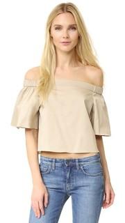 Блуза с открытыми плечами и короткими рукавами Tibi