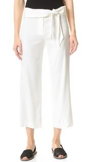 Укороченные брюки Imperial с завязками на талии Veronica Beard