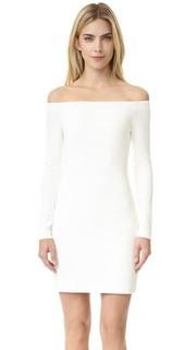 Платье из крепа с открытыми плечами Tibi