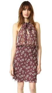 Платье с принтом в виде цветов и завязками на вырезе Nili Lotan