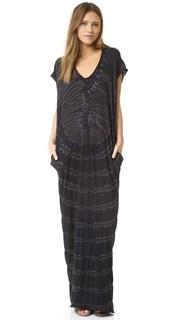 Платье с короткими рукавами в стиле восточного халата Raquel Allegra