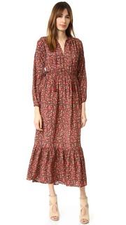 Шелковое платье с цветочным принтом в стиле хиппи The Kooples