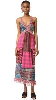 Макси-платье Woodblock с вырезом Anna Sui