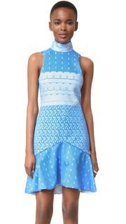 Платье из проклеенного кружева с воротником-стойкой Jonathan Simkhai