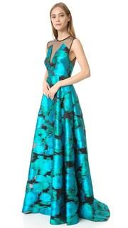 Вечернее платье без рукавов Lela Rose