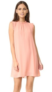 Платье без рукавов с оборками Wayf
