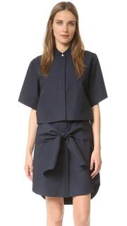 Платье-рубашка на пуговицах с завязками Derek Lam 10 Crosby