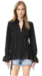 Рубашка с оборками MM6