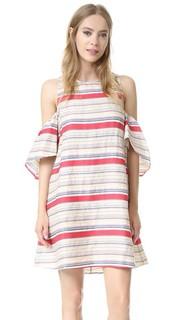Текстурированное платье Nola в полоску Tanya Taylor