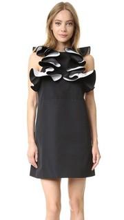 Двухслойное платье с оборками Victoria Victoria Beckham