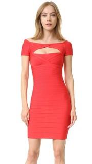 Платье Laurel с открытыми плечами Herve Leger