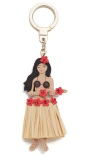 Кожаный брелок для ключей в форме гавайской танцовщицы Kate Spade New York