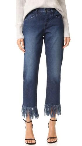 Укороченные джинсы WM3 с бахромой