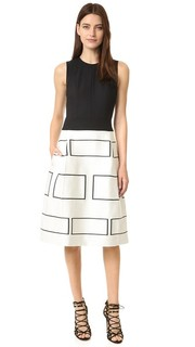 Платье без рукавов с графическим рисунком Narciso Rodriguez